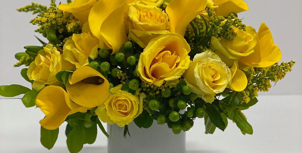 Bright Shades of Yellow - Flower Arrangement