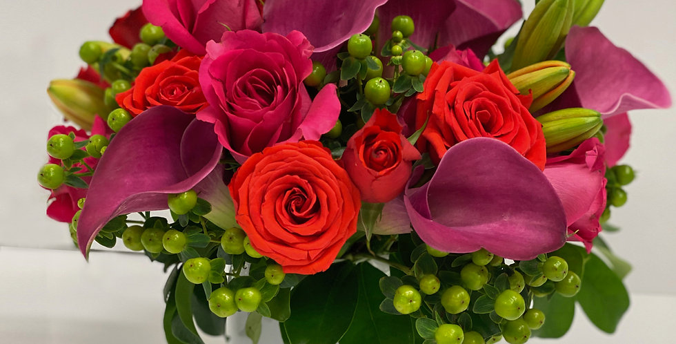 Bright Shades of Pink - Flower Arrangement