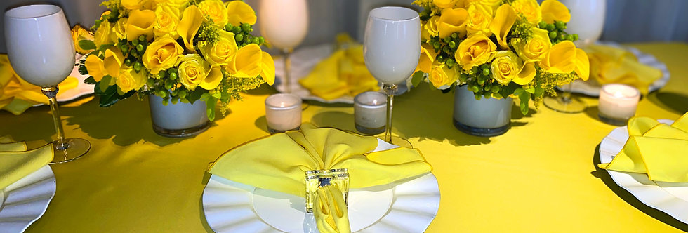 Bright Shades of Yellow - Place Setting Collection for 6
