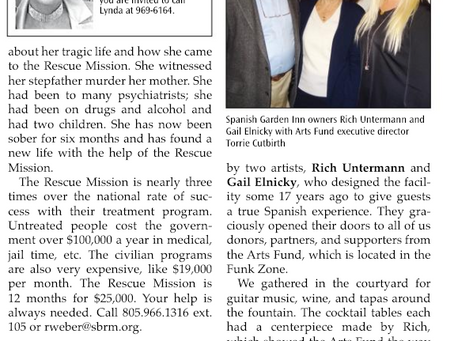 2018 Donor Appreciation Party Feature, Montecito Journal