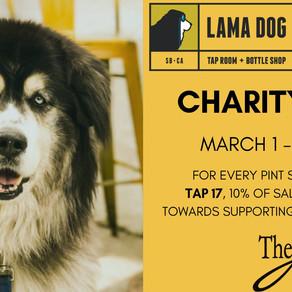 Lama Dog/Arts Fund Charity Tap March 1 - May 1
