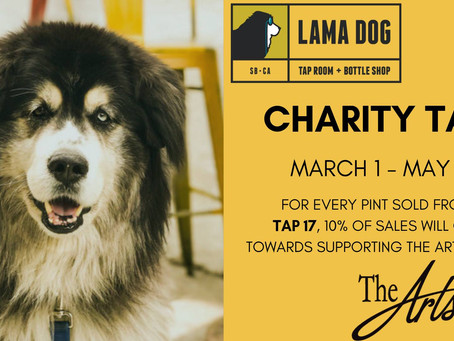 Lama Dog/Arts Fund Charity Tap March 1 - May 1