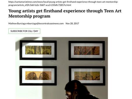 North County Teen Arts Mentorship Exhibition Review, Santa Maria Times, 2017