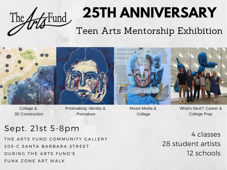 25th Anniversary Teen Arts Mentorship Exhibition