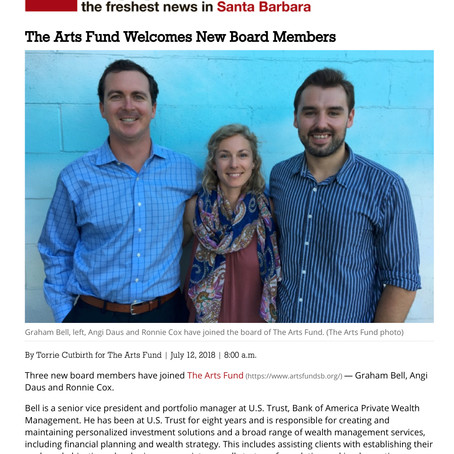 The Arts Fund Welcomes New Board Members, Noozhawk 2018
