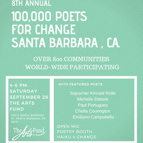 8th Annual 100,000 Poets for Change at The Arts Fund