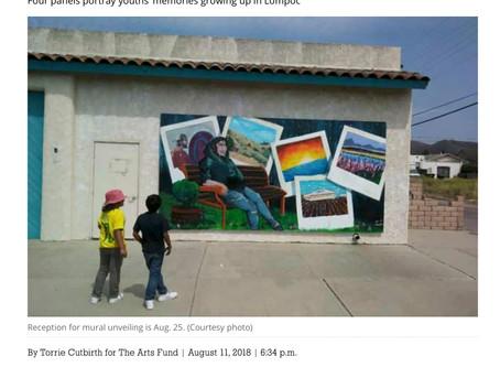 Lompoc Teen Arts Mentorship Mural, Noozhawk 2018