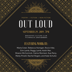 September 29 Out Loud SB Literary Reading