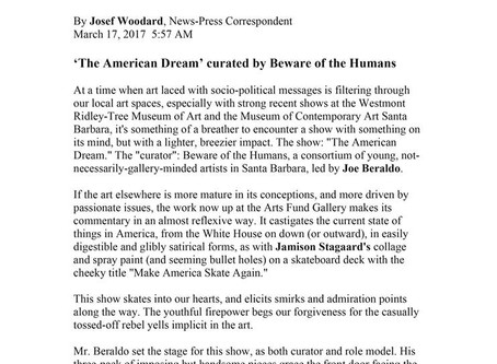 The American Dream Review, SB News-Press 2017
