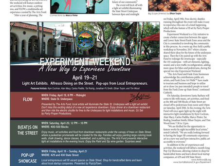 "The Arts Fund Curates State St. Underpass for ""Experiment Weekend"", VOICE Magazine 2019"