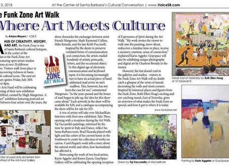 The Arts Fund's Funk Zone Art Walk: Where Art Meets Culture, VOICE Magazine 2018