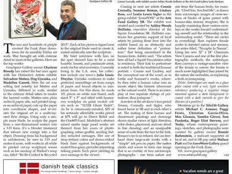 JuxtaPOSE Review, Montecito Journal, 2018