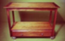 Reclaimed mahogany media console
