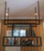 Glass & Steel hanging liquor rack