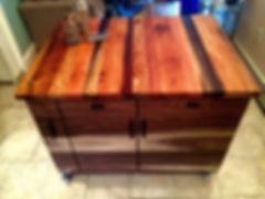 Walnut Kitchen Isalnd with reclaimed wood butcher block top