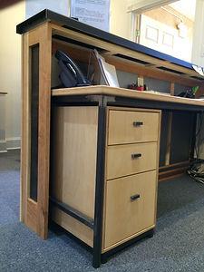 Baltic birch file cabinet & desk