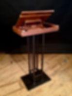 Walnut & Steel book pedestal rear
