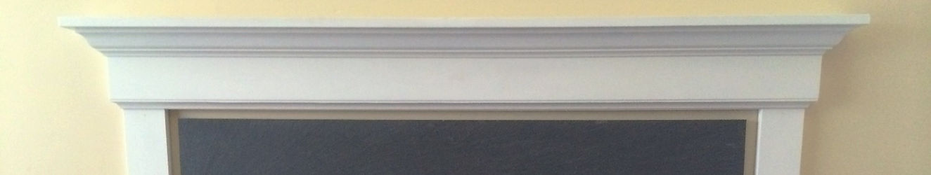 Traditional-style simpler mantel