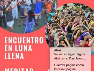 """Encuentro en Luna Llena Vuelo N°117 """"Un viaje a la esencia con escala en el corazón"""""""