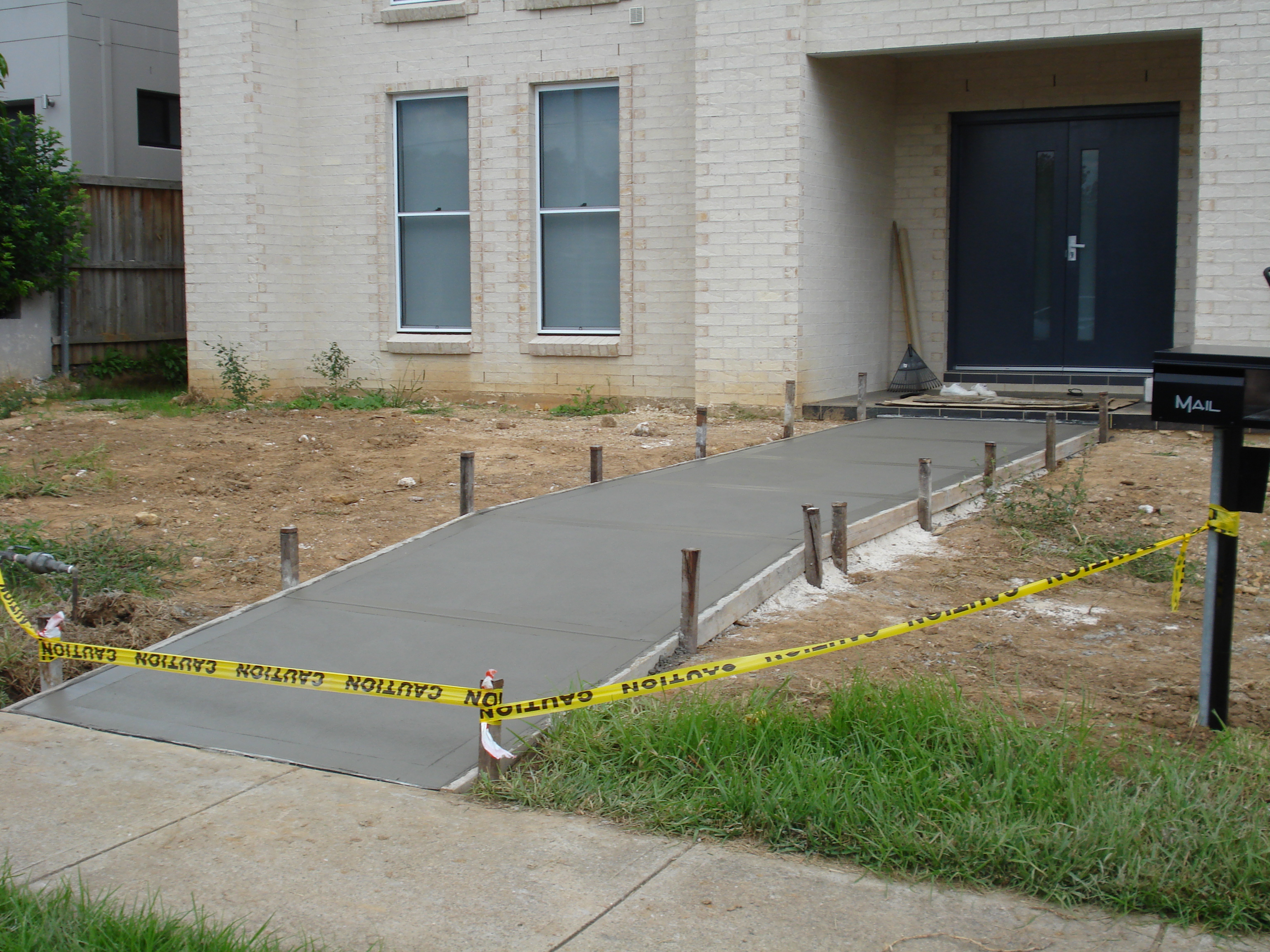 Newcastle Concrete Pathway