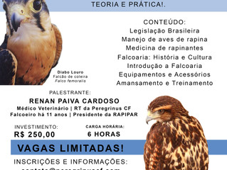 III Curso de Introdução à Falcoaria e Manejo de Aves de Rapina