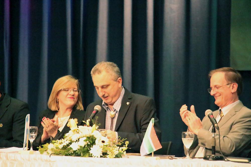 Viviana Rovira, ministra de Ecologia, Hugo Passalacqua, vice-governador de Misiones e Adrian Lombar, presidente da IAF