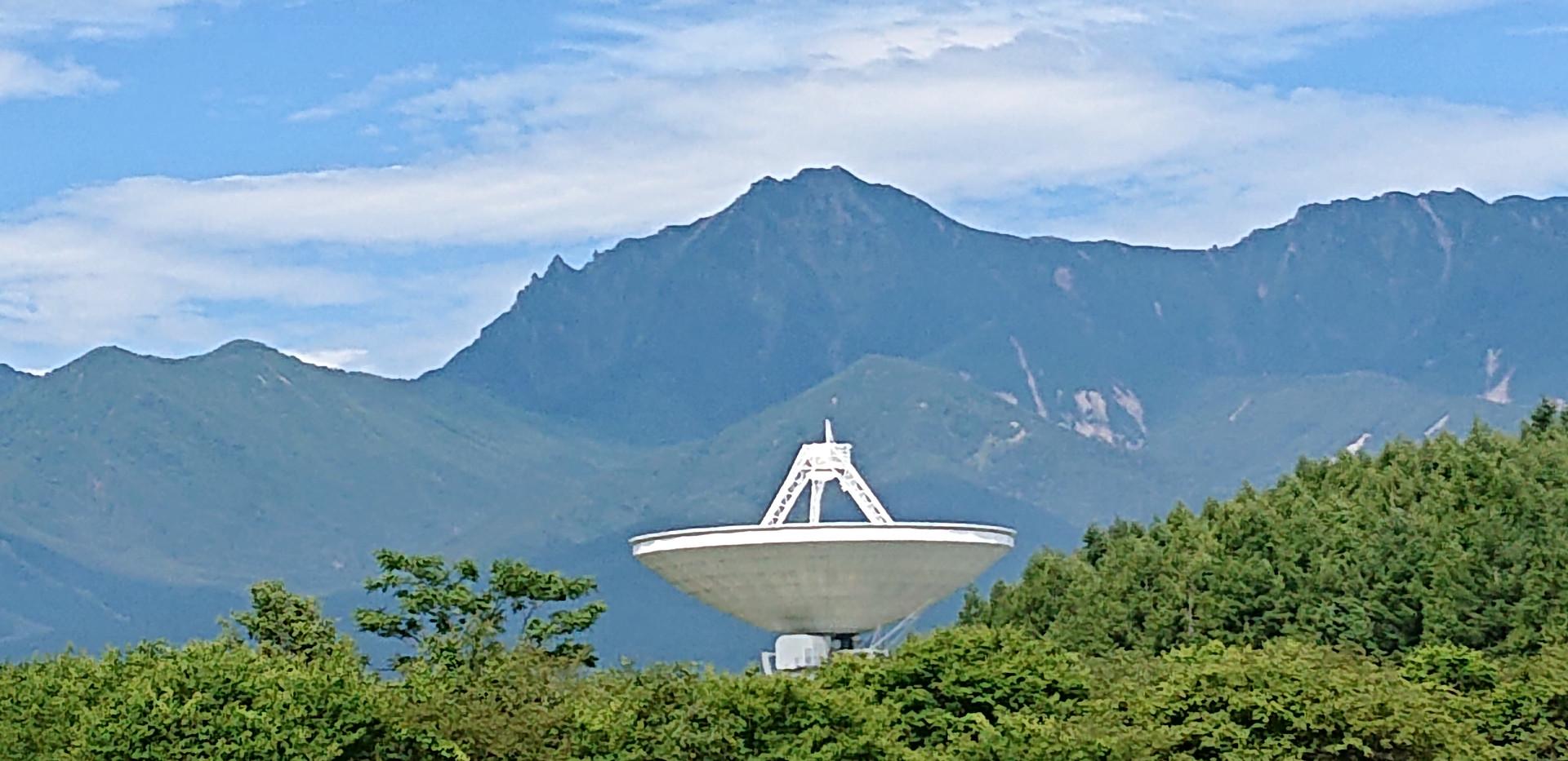 八ヶ岳主峰赤岳と45のコラボ