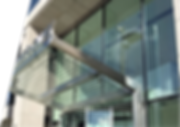 As well as profiled glass Topglass provide glass facades and canopies