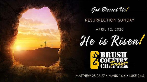 Resurrection Easter Sunday BCU He is ris
