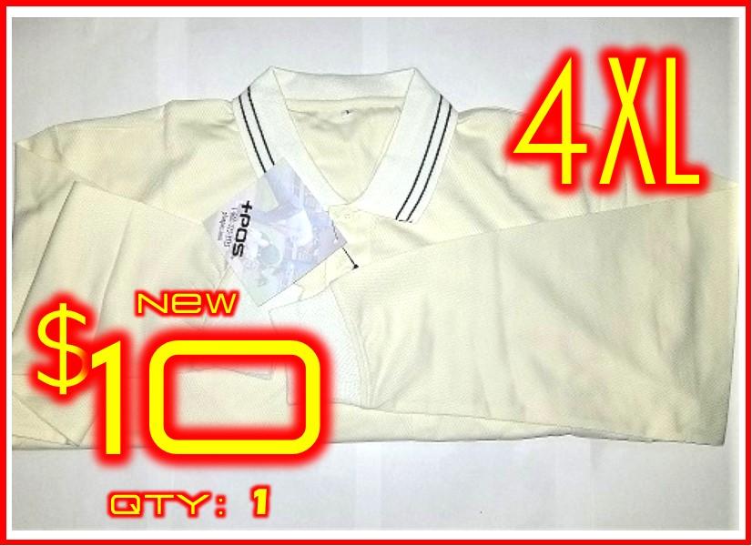 4XL│POS+ Long Sleeve Shirt Cream