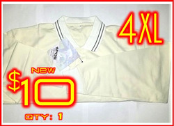 4XL│POS+ Long Sleeve Shirt Cream