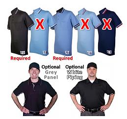 Shirt Uniform Color List of Blacks & Blu