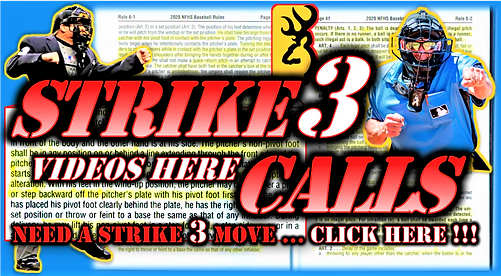 Cover Page - Strike 3 Called Video, Need
