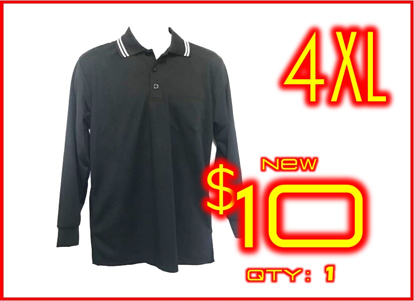 4XL│POS+ Long Sleeve Shirt Black