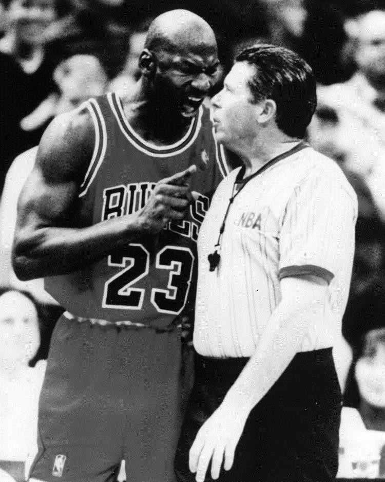 Michael Jordan yelling at Bob Delaney before becoming an NBA Supervisor, God bless you, Bob.