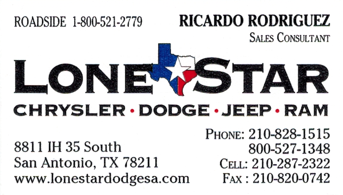 Ricardo Rodriguez of Lone Star Dodge