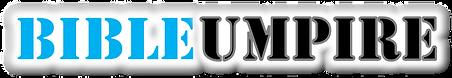 BU - @ Bible Umpire White Banner Logo To