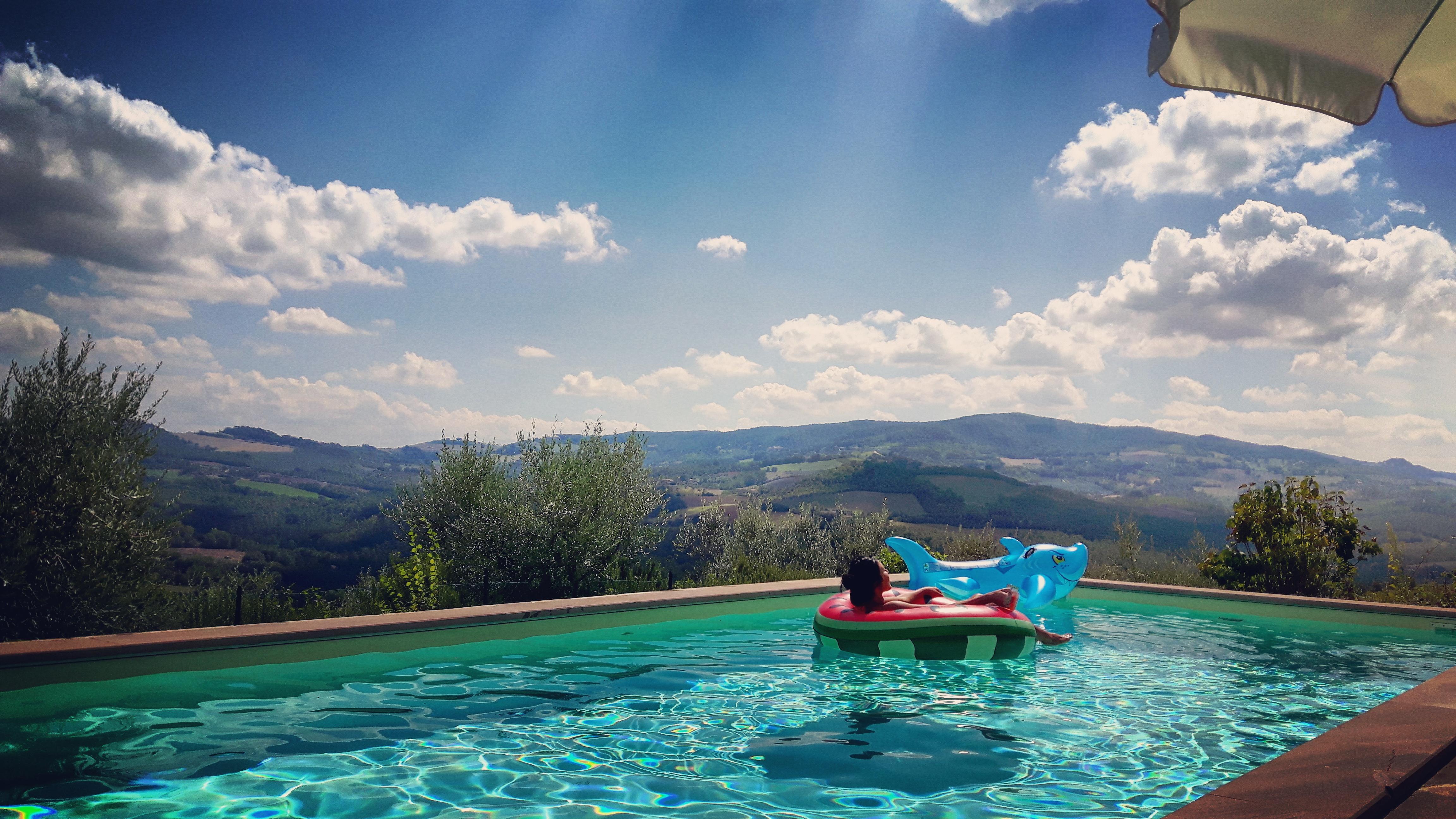 Pool overlooking the hills