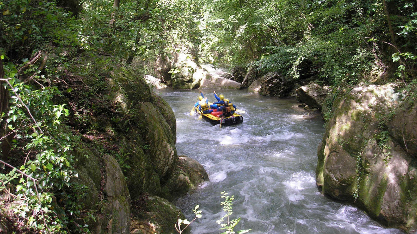 Rafting at Cascata delle Marmore