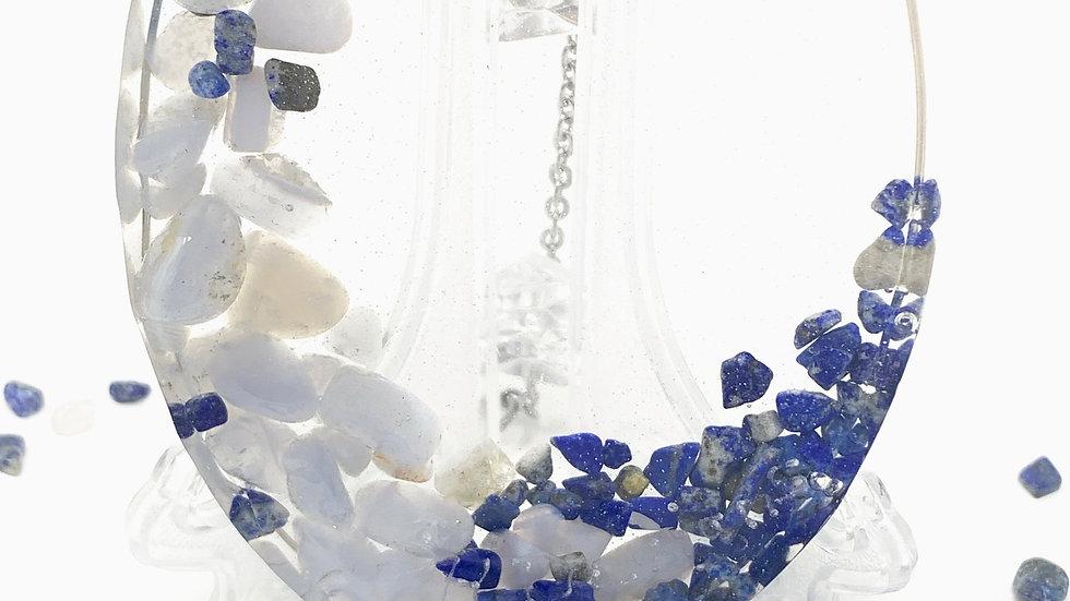 Moonstone and Lapis Lazuli Ornament