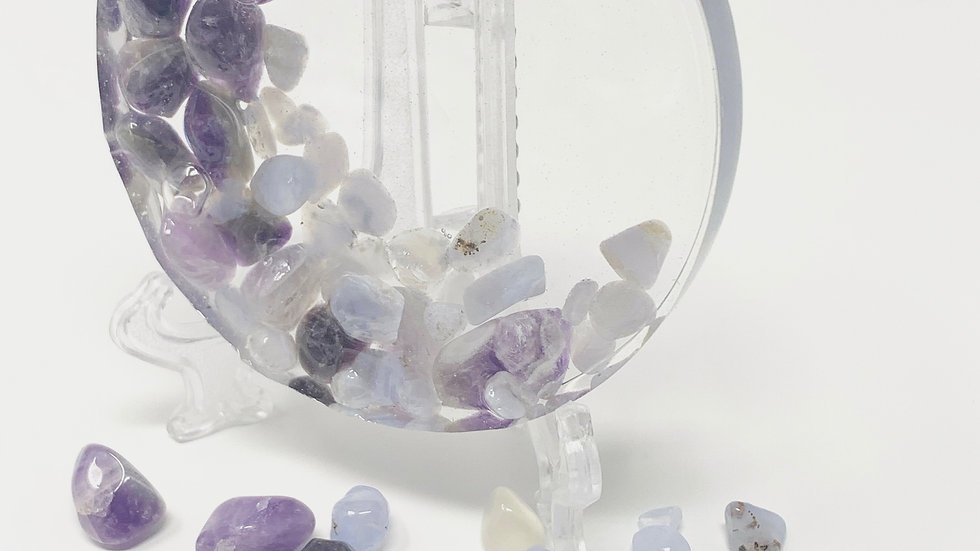 Amethyst and Moonstone Ornament