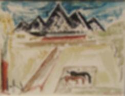 'Talpa Landscape' watercolor