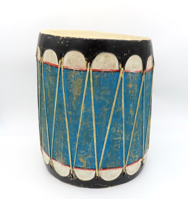 Blue Cochiti Pueblo Drum