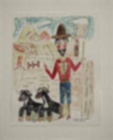 San Isidro: Patron Saint of Farmers , watercolor by Jackson Ballard