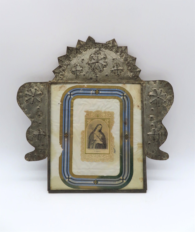 Taos Serrate Tin with Devotional Print