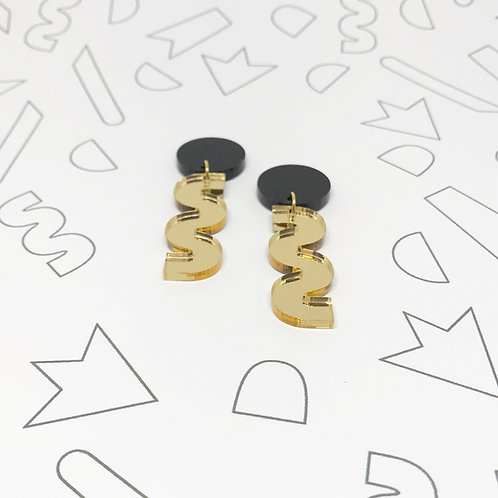 Squiggle Earrings in Gold