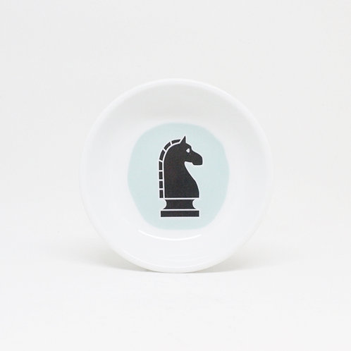 Shelf Life Ceramic Trinket Dish Knight