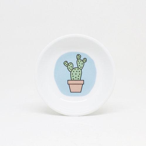 Shelf Life Ceramic Trinket Dish Cactus