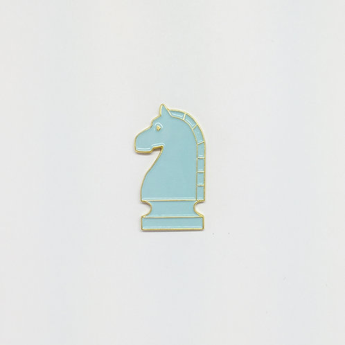Shelf Life Pin Blue Knight
