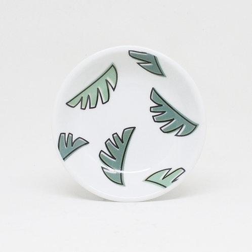 Shelf Life Ceramic Trinket Dish Palm Leaf